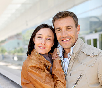 Smiling Couple Showing Their Brighter Teeth